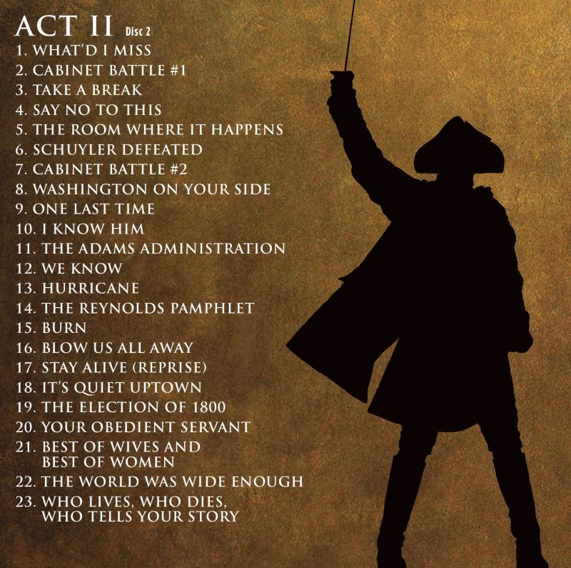 alexander hamilton musical soundtrack